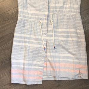 Vineyard Vines Dresses - Vineyard Vines summer button up drawstring dress